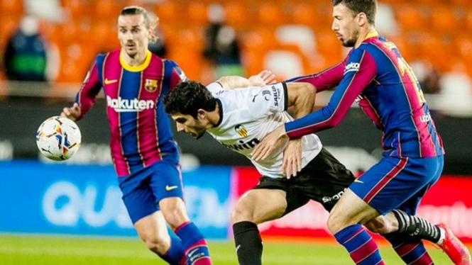 Pertandingan Valencia vs Barcelona