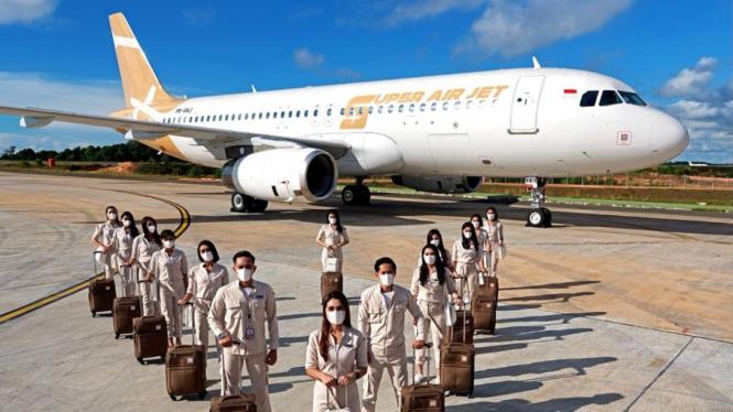Super Air Jet, maskapai baru di industri penerbangan Indonesia.