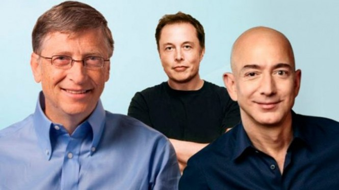 Bill Gates, Elon Musk, dan Jeff Bezos.
