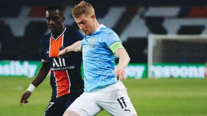 Duel PSG vs Manchester City di leg 1 semifinal Liga Champions.