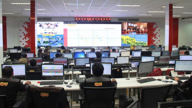 Ruang pemantauan Indosat Ooredoo.