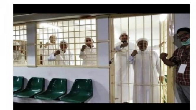 Habib Rizieq di penjara