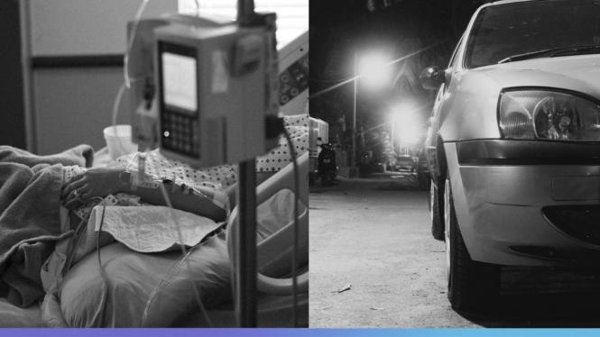 Ilustrasi pasien COVID-19 berhari-hari menginap di dalam mobil.