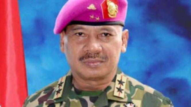 VIVA Militer: Mayjen TNI Mar (Purn.) Buyung Lalana saat menjadi Dankormar