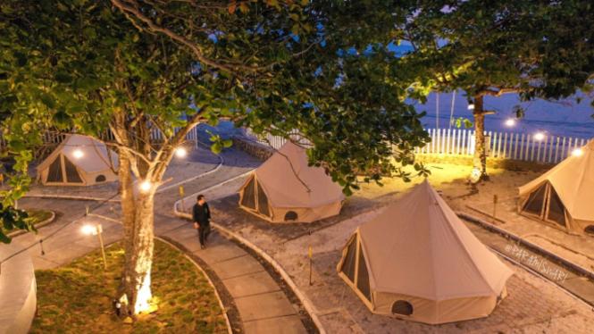 Berkemah Nyaman di Glamping Krakatoa Nirwana Resort, Lampung (Foto/paramiswari)