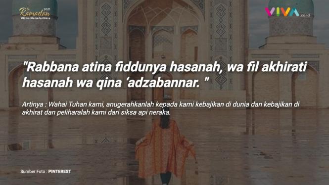 Doa di malam Lailatul Qadar.
