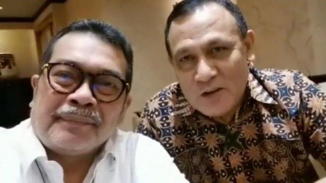 Ketua KPK Firli Bahuri dengan Komisaris PT Pelindo I Timbo Siahaan.