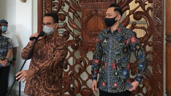 Gubernur DKI Jakarta Anies Baswedan dan Ketum Demokrat AHY