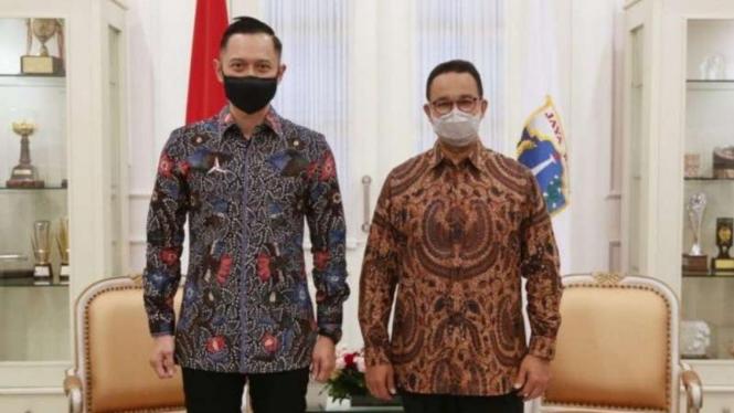 Ketum Demokrat AHY bertemu dengan Gubernur DKI Anies Baswedan