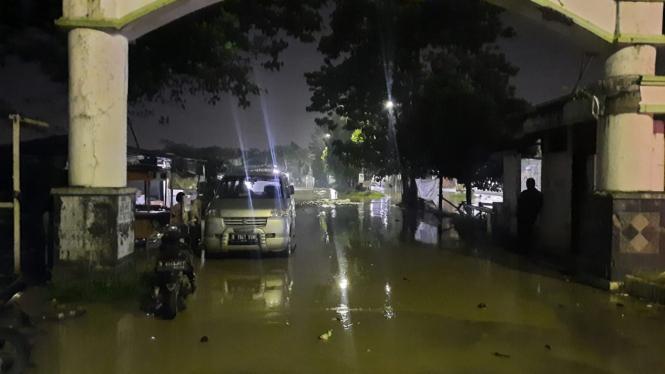 Banjir di Perumahan Pondok Mitra Lestari, Kota Bekasi