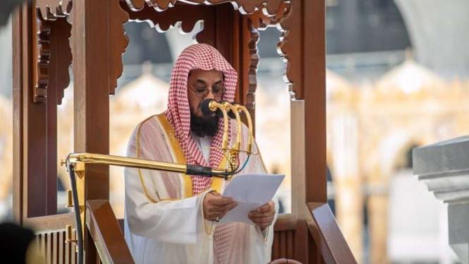 Imam sekaligus Khatib Masjidil Haram, Syeikh Saud Ibrahim Al Syuraim
