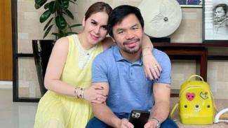 Manny Pacquiao dan istrinya Jinkee Jamora.