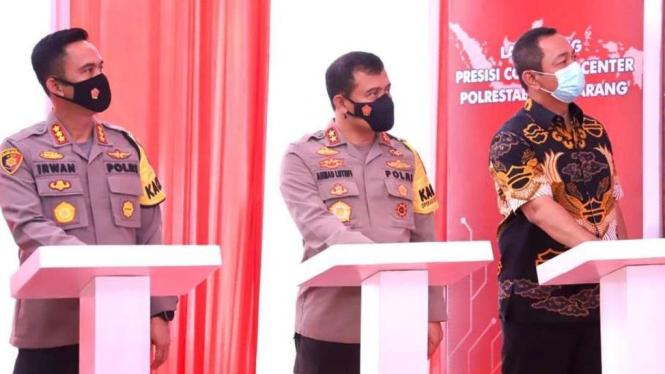 Kapolda Jateng Irjen Ahmad Luthfi (tengah) di Semarang.