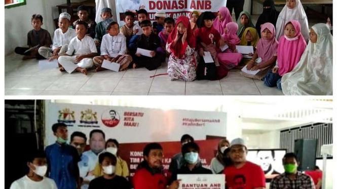 Anindya Bakrie Beri Santunan ke Anak Yatim dan Pelaku UMKM di Kendari