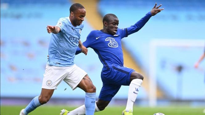 Laga ManCity vs Chelsea dalam lanjutan Premier League 2020/2021.