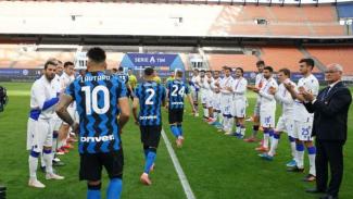 Guard of honour Sampdoria untuk Inter Milan.