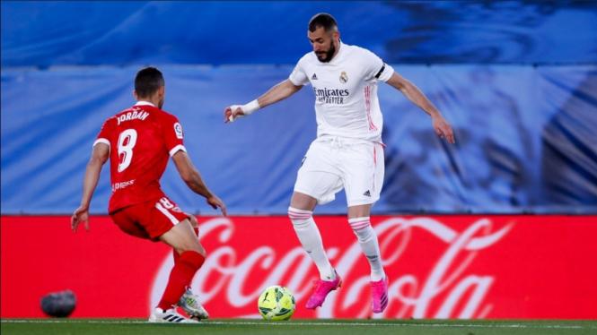 Pertandingan Real Madrid vs Sevilla dalam lanjutan LaLiga 2020/21.