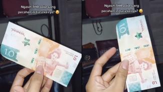Viiral uang pecahan 1.0 di media sosial (Foto/TikTok/puspotv)