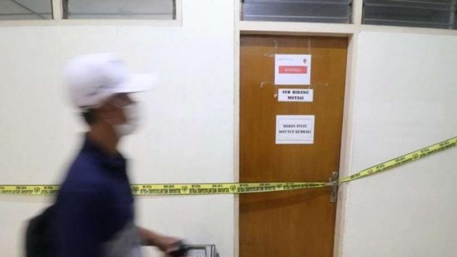 Gedung BKD disegel saat Operasi Tangkap Tangan (OTT) Bupati Nganjuk