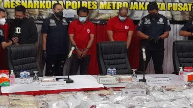 Polres Jakpus sita 310 kg narkoba.