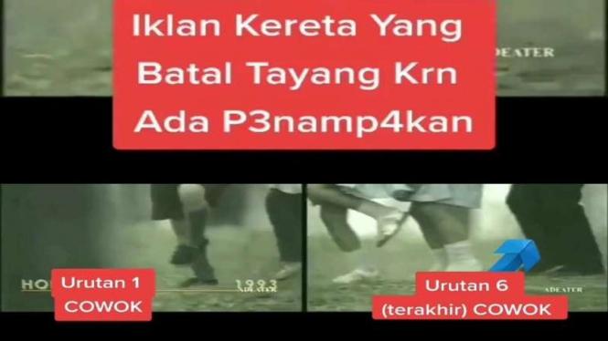 Viral penampakan di video iklan yang batal tayang