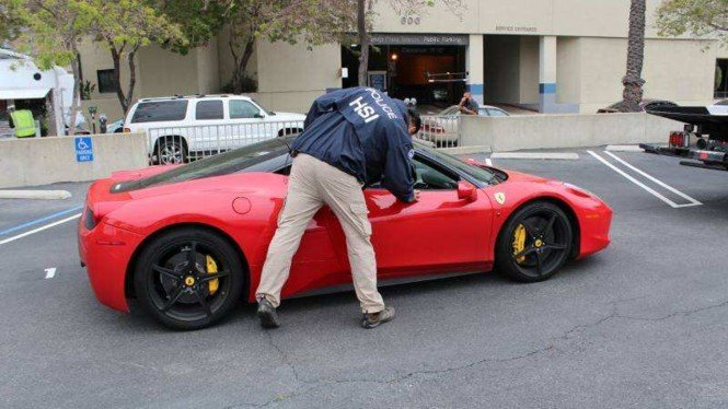 Polisi sita Ferrari 458 Italia yang dibeli pakai uang bantuan COVID-19.