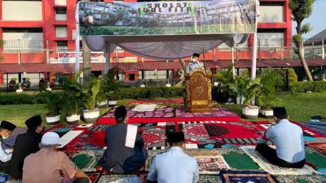 Salat Idul Fitri di lingkungan Kemenkumham Jakarta