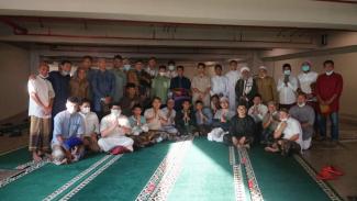 Timnas Indonesia merayaka  Idul Fitri di Jakarta