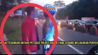 Pria mengaku asisten pejabat PSSI ribut dengab polantas