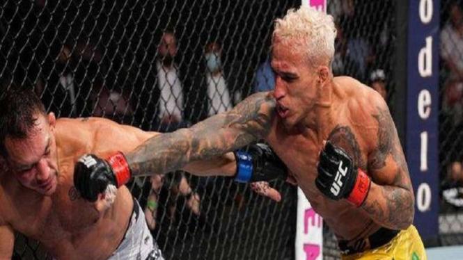 Oliveira memukul telak Chandler dalam duel perebutan sabuk juara kelas ringan