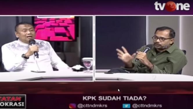 Debat Kapitra Ampera dengan Haris Azhar di Catatan Demokrasi tvOne