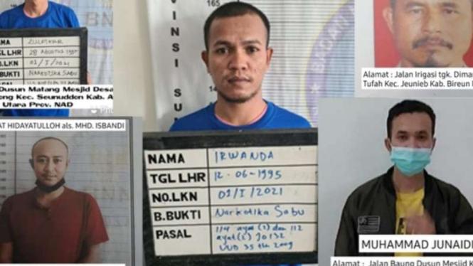 5 tahanan narkotika yang kabur dari sel di Sumut.