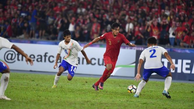 Yudha Febrian saat bermain untuk Timnas U-19