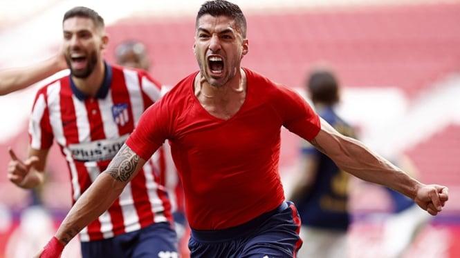 Striker Atletico Madrid, Luis Suarez