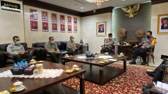 Kapolri Jenderal Listyo Sigit Prabowo bertemu Mentan Syahrul Yasin Limpo
