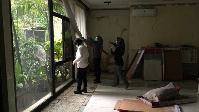 Mensos Risma melakukan sidak di lingkungan Kemensos Salemba