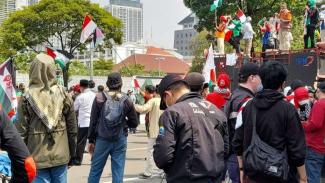 Massa KSPI geruduk Kedubes AS di Jakarta buntut Israel sekutu AS serang Gaza