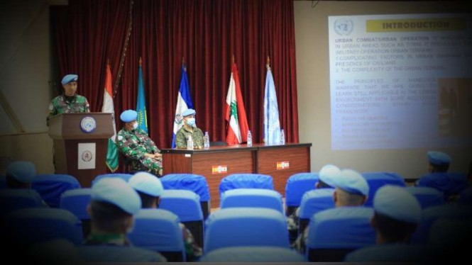 VIVA Militer: Dansatgas Yonmek XXIII-O/UNIFIL buka Latgab Perang Kota di Lebanon