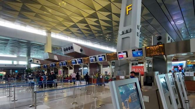 Suasana Bandara Soekarno Hatta, Tangerang. (foto dokumentasi)