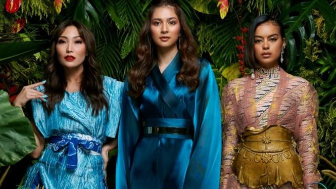 Ayu Dewi, Mikha Tambayong dan Eva Celia