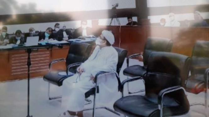 Mantan Imam Besar Organisasi Front Pembela Islam, Habib Rizieq Shihab.
