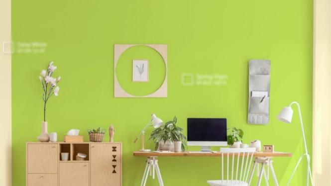 Ilustrasi ruangan/cat dinding