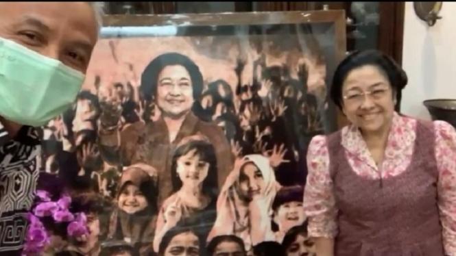 Ganjar Pranowo dan Megawati