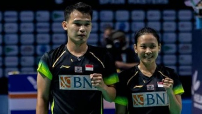 Ganda campuran Indonesia, Rinov Rivaldy/Pitha Haningtyas Mentari.