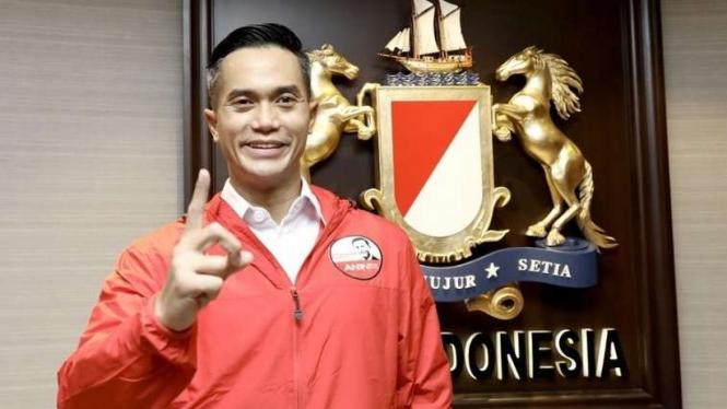 Calon Ketua Umum Kadin Anindya Bakrie di Kantor Pusat Kadin Indonesia.