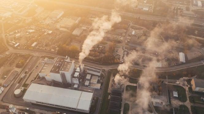 Ilustrasi emisi karbon.