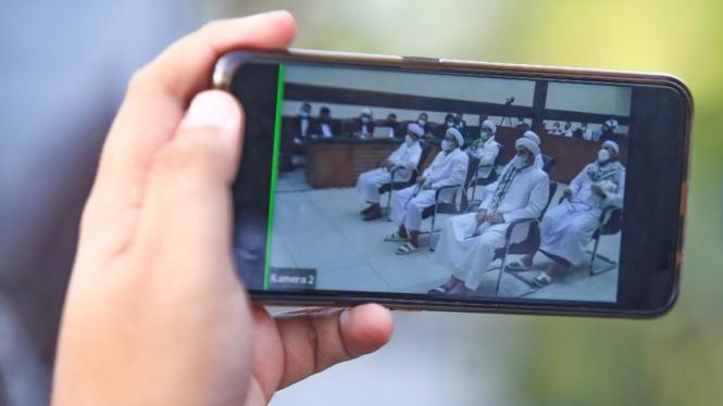 Sidang Vonis Habib Rizieq Kasus Petamburan