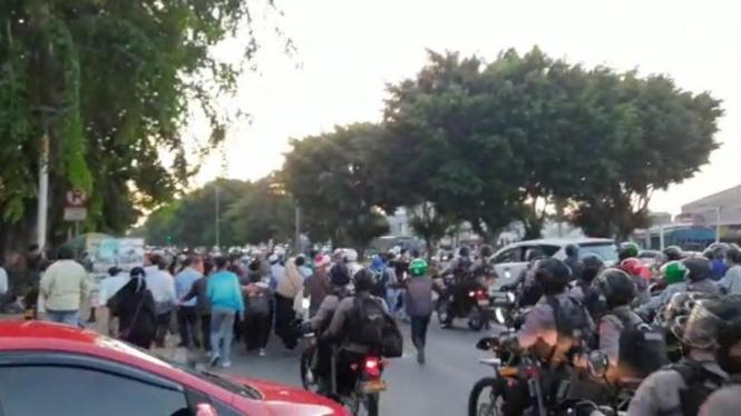 Massa pendungkung Habib Rizieq.