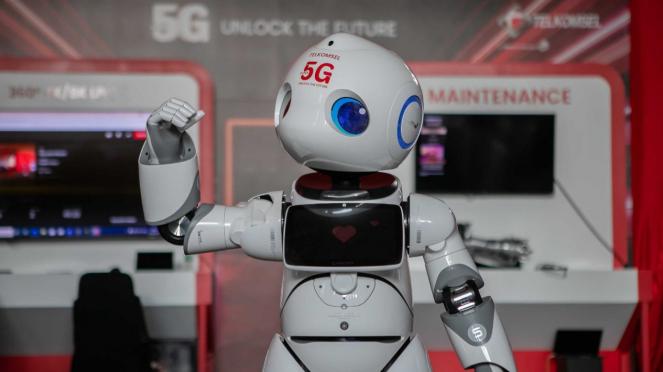 Robot 5G Telkomsel.