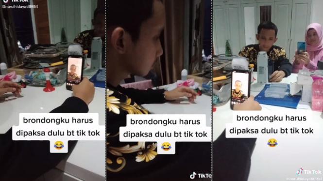 Viral brondong dipaksa main TikTok (TikTok/nurulhidayati6954)